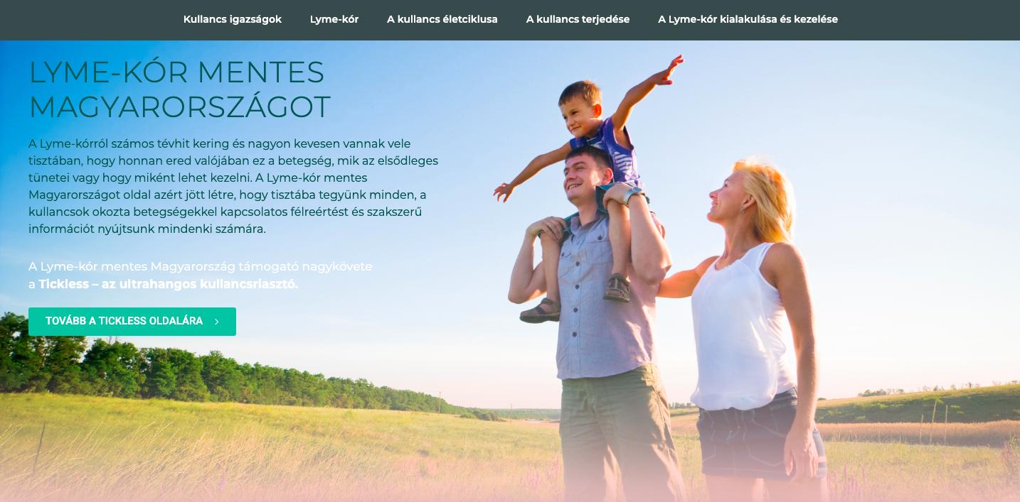 """Tavaszi kampányt indítottunk a """"Lyme-kór mentes Magyarországot"""" számára"""