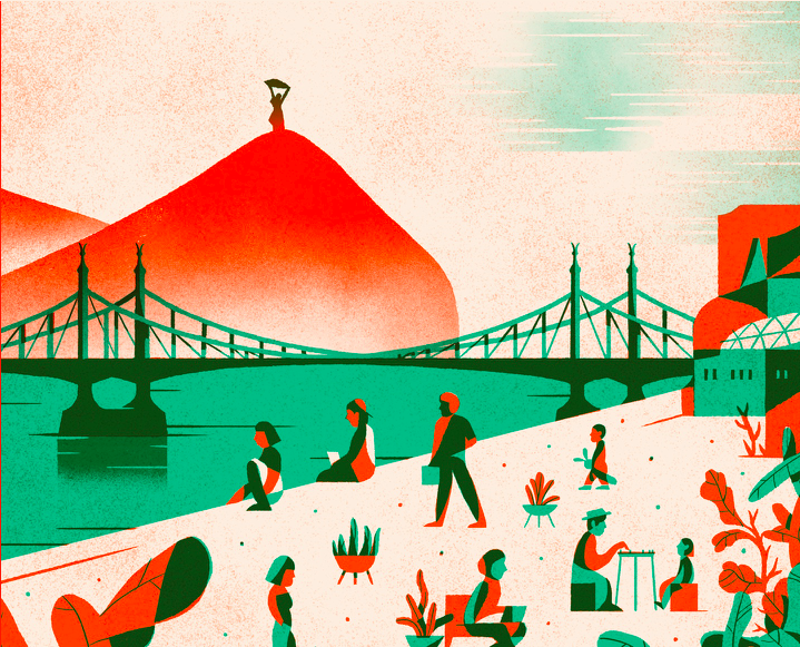 A 100 szóban Budapest 2020-as plakátja